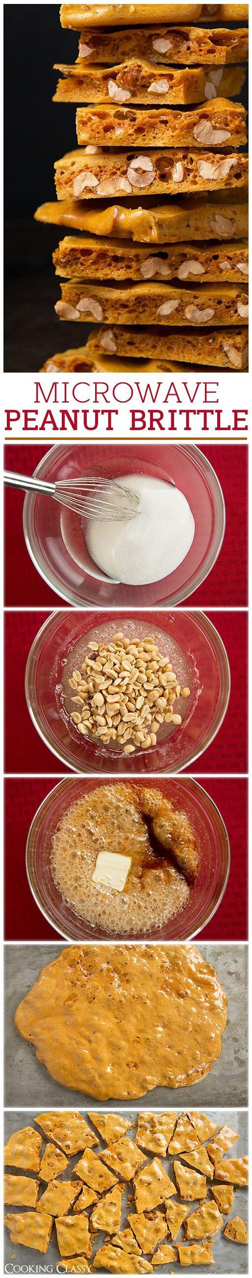 CROCANTE DE CACAHUATE Mezcla 1 taza de cacahuates sin sal, 1/2 taza de jarabe de maíz light, 1 cucharada de bicarbonato de soda, 1 taza de azúcar granulada, 1/4 cucharada de sal, 1 cucharada de extracto de vainilla y 1 cucharada de mantequilla. Mete la mezcla al microondas hasta que burbujee y déjala secar hasta que se endurezca.: