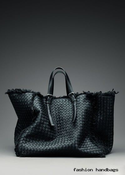 Love this leather & canvas Bottega Veneta