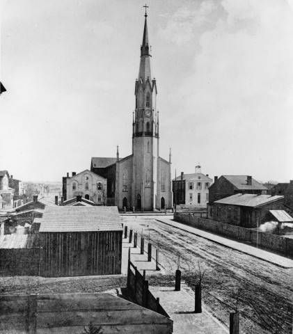 Saint Martin of Tours Catholic Church,built in 1853-54 637 S. Shelby St. Louisville, Kentucky, Picture taken from Grey Street. circa 1870. :: R. G. Potter Collection
