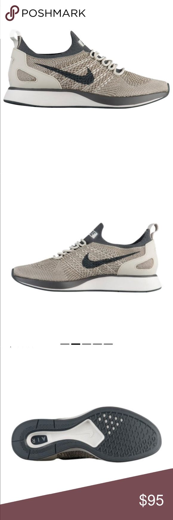 🌼[Nike] Wmns Nike Air Zoom Mariah Flyknit Racer🌼 Women's Nike Air Zoom Mariah Flyknit Racer Casual Shoes in Pale Grey/Dark Grey/Summit White Size 6 - These have only been worn twice. They come with the original box and are in excellent condition. They are still selling in stores for the original price of $150. Get them before they're gone!! 😊 Nike Shoes Sneakers