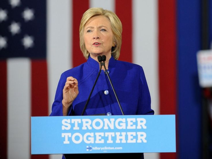 PHOTO: Democratic presidential nominee Hillary Clinton speaks at a campaign rally at the Frontline Outreach and Youth Center in Orlando, Florida, Sept. 21, 2016.