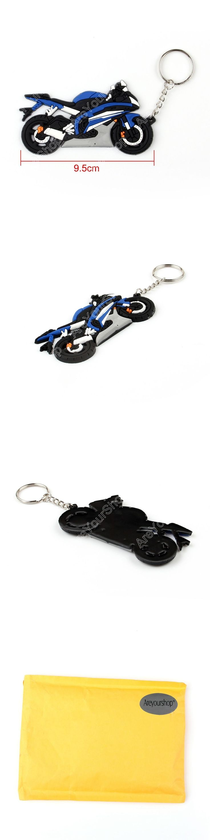 Areyourshop Sale Rubber Motorcycle Model Cool Keyring Keychain Key Chain Pendant For Yamaha R6