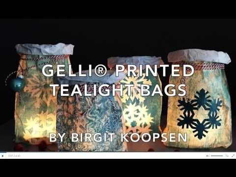 Printing with Gelli Arts®: Gelli® Printed Tealight Bags