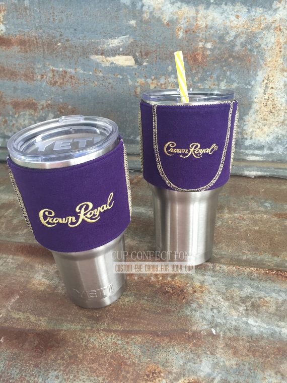 Gift for him crown royalcrown royal gift OOAK by CupConfections
