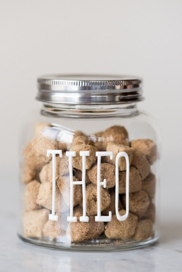 DIY Dog Treat Jars by @dailydogtag for @cydconverse