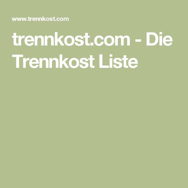 trennkost.com - Die Trennkost Liste