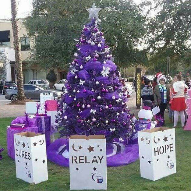 Emerald Coast Relay For Life 2015 Grand Boulevard Festival of Trees entry! #paintyourworldpurple #pywp #emeraldcoastrelayforlife