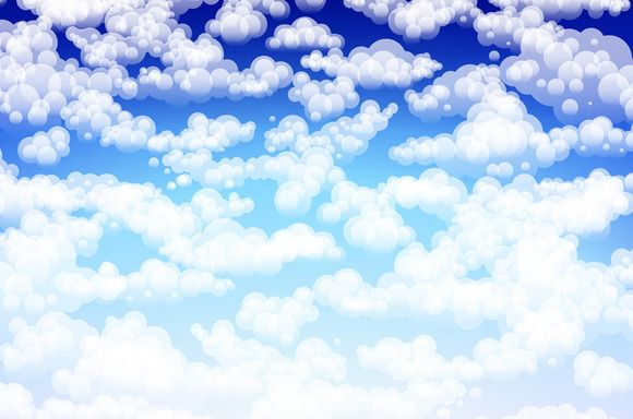 vector light clouds in a blue sky by Rommeo79 on @creativemarket