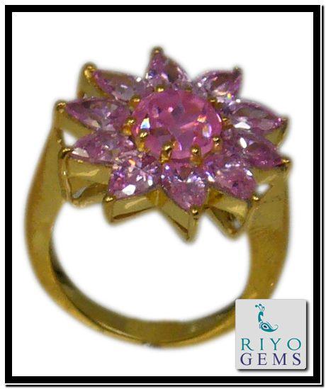 Yellow Gold Amethyst Ring from Riyo Gems http://www.riyogems.com