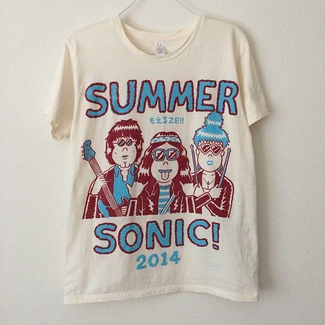 『Summer Sonic 2014』公式Tシャツやりました。超インパクト。  サマソニ内でのライブペイント『Sonicart』に今年も参加します!サマソニ来る人、観にきてね〜。 #illustration #イラスト #art #junoson #oson #tshirt