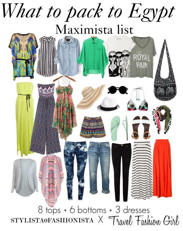 """Egypt packing list : Stylista0fashionista X Travel Fashion Girl"" by stylista0fashionista on Polyvore"