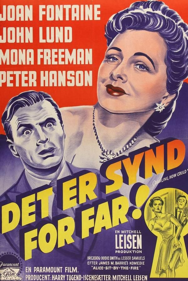 Darling, How Could You! (1951) Original Danish Movie Poster