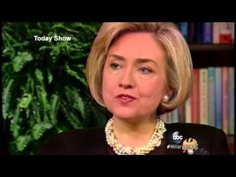 Diane Sawyer Interview : Hillary Clinton Discusses Monica Lewinsky and Her Marriage - YouTube