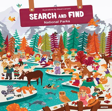 #activity #nationalparks #searchandfind #yosemite #deathvalley This activity book contains illustrations of twelve North American national parks, in which children have to search for objects. It is both original and fun, and children will enjoy discovering different animals and landscapes and while looking for some hidden objects. In addition, on each page an intruder has escaped from the park and sneaked his way into the picture.