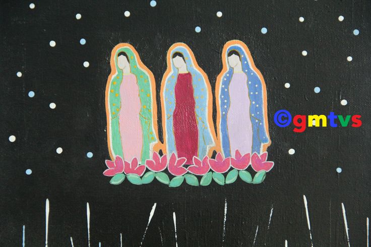 Virgen de Guadalupe - Lady of Guadalupe -Acrylic Painting For Sale