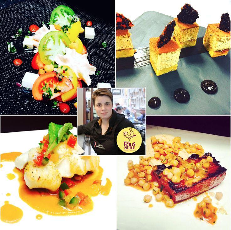 Les délices de la Chef Anais Dutilleul sont dans les assiettes chez LES FOUS DE L'ILE... #menu #carte2016