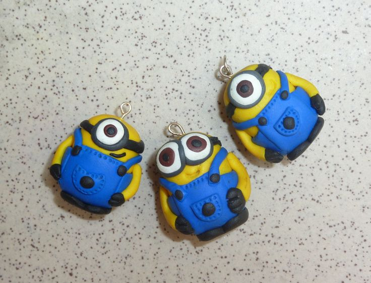 Minions! Fimo polymer clay...