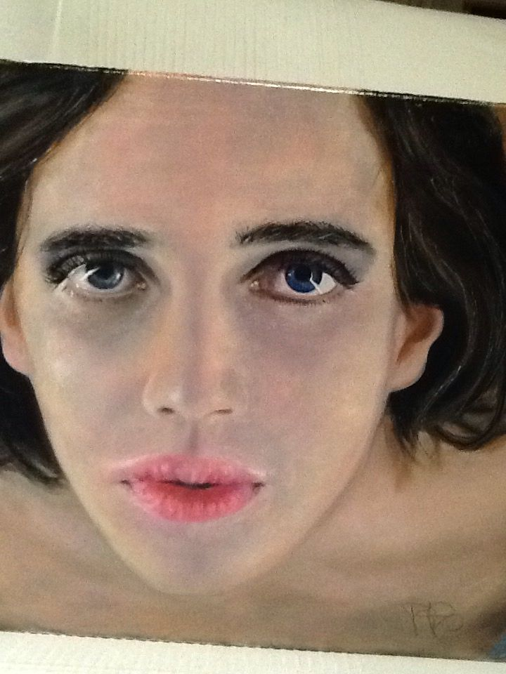 Ritratto olio su tela. Portrait painting by Paola Petrucci