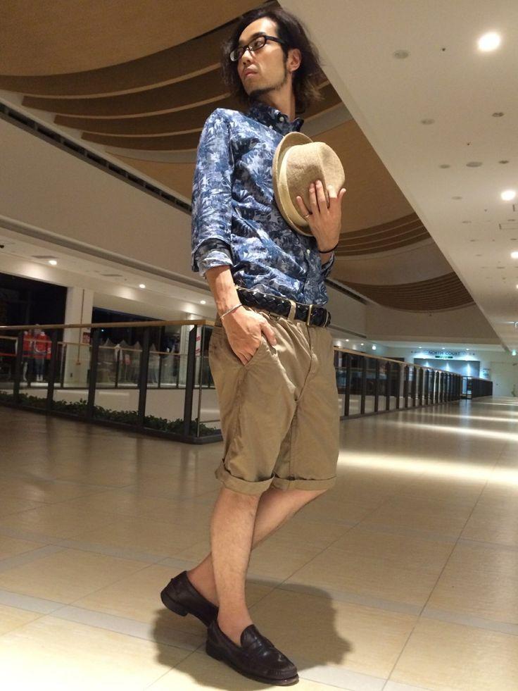 AVIREX ららぽーと横浜 | ATSUSHIさんのパンツ「AVIREX AVIREX(アヴィレックス) メンズ チノショーツ」を使ったコーディネート