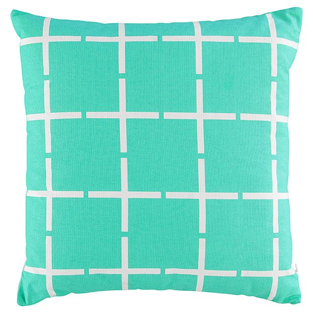 Mint Grid Printed Cushion - 45cm | Target Australia