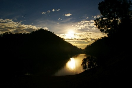 A sunrise view from Ranu Kumbolo, Mount Semeru.