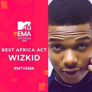 Wizkid Wins Best African Act @ MTV EMA 2016   Whatsapp / Call 2349034421467 or 2348063807769 For Lovablevibes Music Promotion   Another Award Nomination another Wizkid win. The singer beats African music top artists Black Coffee & Cassper Nyovest from South Africa Olamide and Ali Kiba of Tanzania to claim the title.  ENTERTAINMENT