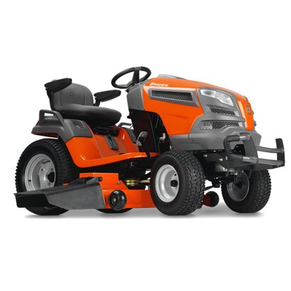Husqvarna GT54LS:We developed our LS series yard tractors with the discriminating landowner in mind. Engineered for added durability, comfort, style and precision, our LS series yard tractors all feature fabricated or reinforced decks and a heavy-duty chassis. The efficient, integrated washout port and optional mulch kit make these models ideal for demanding and extensive use. Then the available locking rear differential increases traction while cutting wet grass or on slopes.