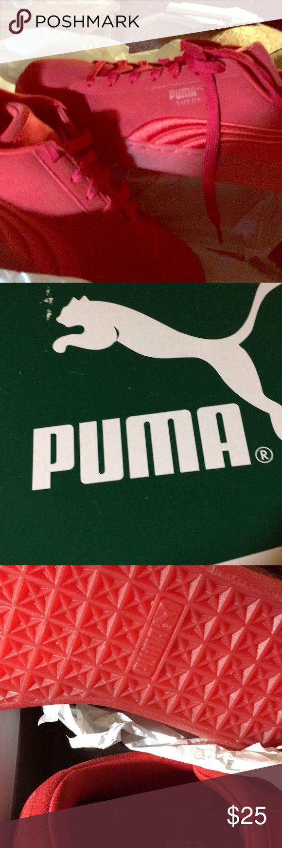 Tennis Shoes original PUMA red, size men's 11 Brand new never even tried on original PUMA tennis shoes, men's size 11.  In the original box wrapped in paper!  Color RED PUMA SUEDE Shoes Sneakers