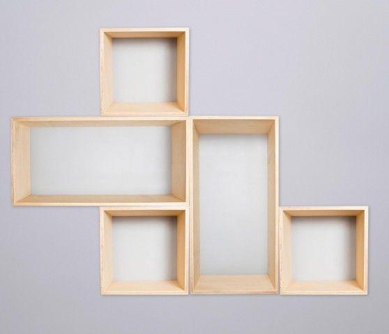 Set De 5 Estantes Para Piso - Gris - Libreros - Almacenar - Muebles
