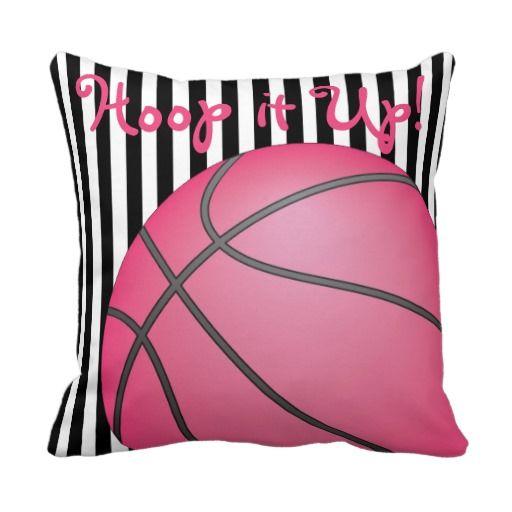 Girls Basketball Pillow  Blk Stripes. 106 best Basketball Room Decor images on Pinterest   Basketball
