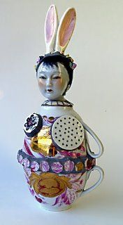 Untitled (2 teacups?) by British ceramic artist Cleo Mussi. via Nantucket Mermaid