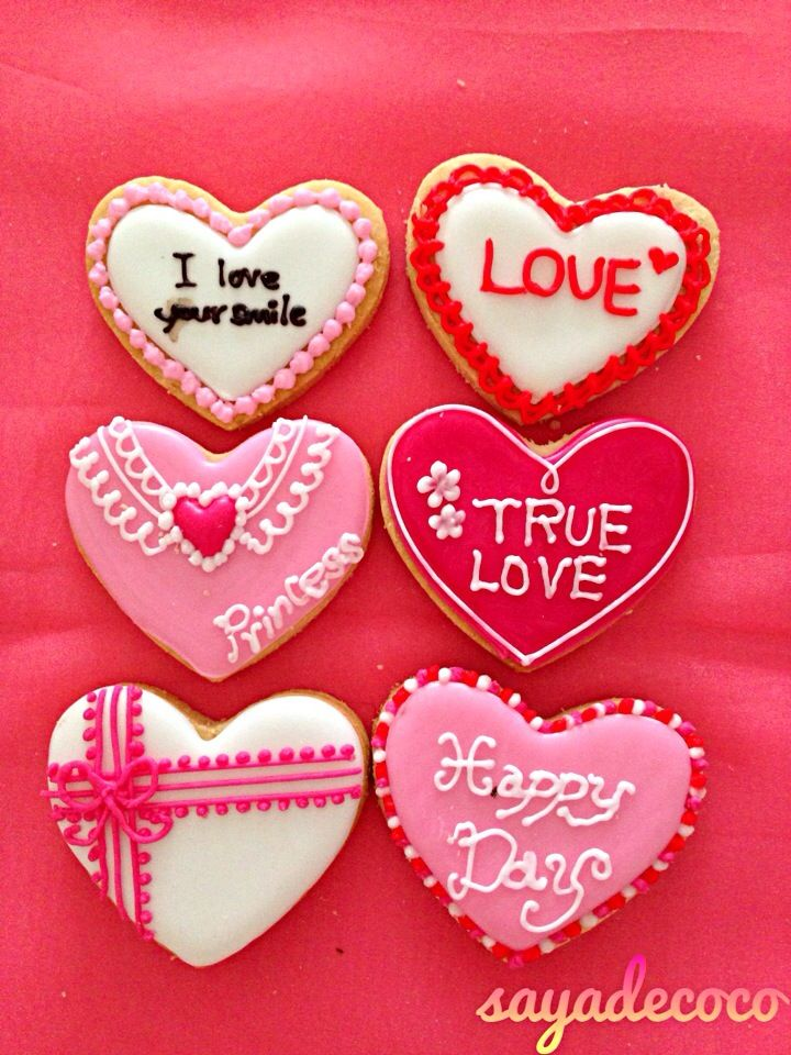 sweet valentine message cookies