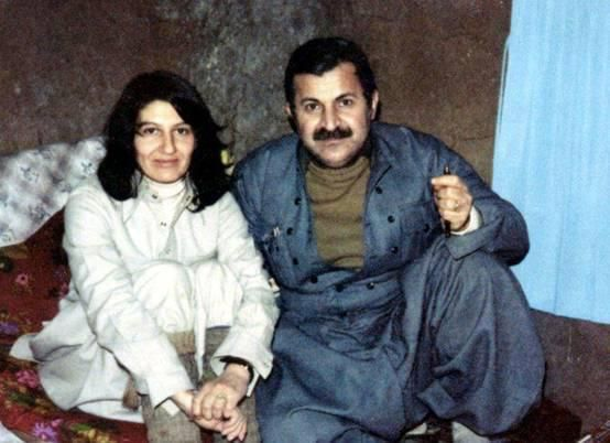 Current Iraqi president Jalal Talabani with his wife Hero Khan