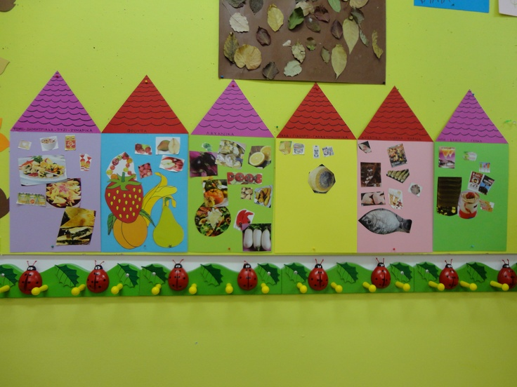 IN EACH HOUSE WE PUT DIFFERENT KINDS OF FOOD: SWEETS, MEAT, FRUIT-VEGETABLES etc.