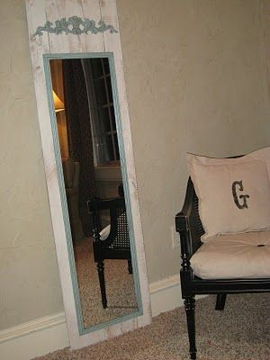 Cheapo but Chic Full Length Mirror via www.shanty-2-chic.com with step by step instructions and photos
