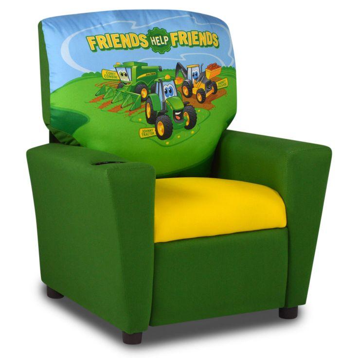 John Deere Johnny Tractor Kids Recliner with Cupholder - 2012JT
