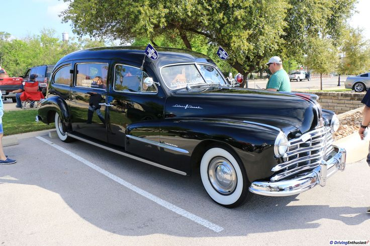 1948 Pontiac Streamliner Hearse , as shown at the March 19, 2017 Round Rock TX USA car show.