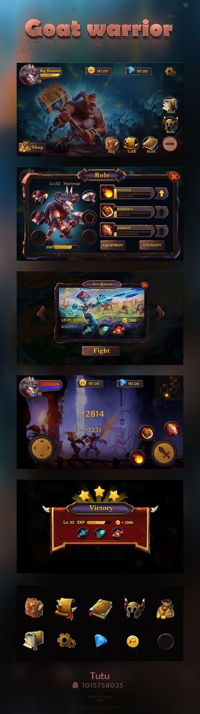 游戏UI作品 |GAMEUI- 游戏设计...