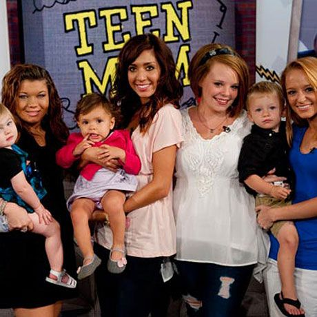 Cast of Teen Mom: Amber, Farrah, Catelynn and Maci