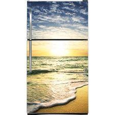 Beach Sunset Refrigerator Cover