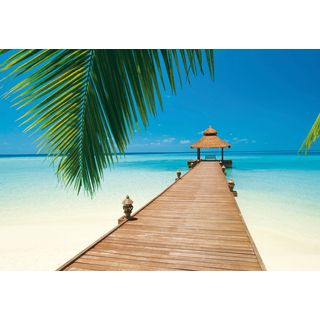 Ideal Decor U0027Paradise Beachu0027 Wall Mural