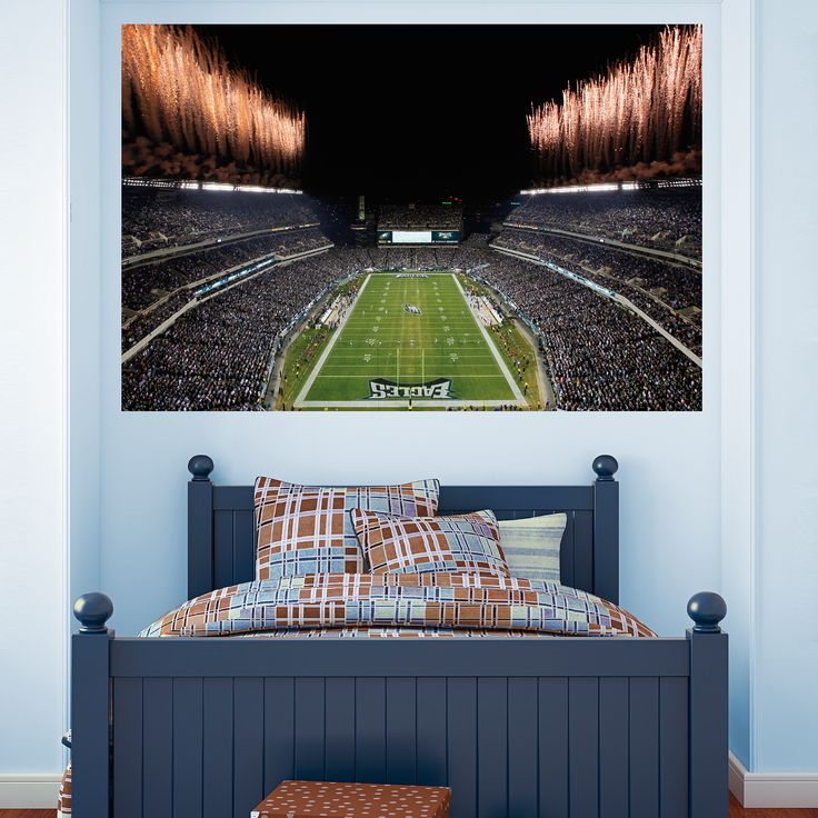 Inside Lincoln Financial Field Mural | Philadelphia Eagles Wall Decal