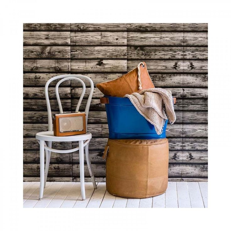 MJG - Round Leather Ottoman - Modern Ottomans For Your Living Room Online or In Store!