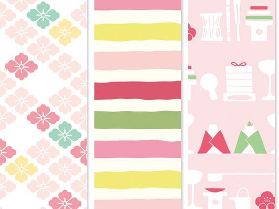 ひな祭りを可愛らしく、華やかに彩る帯紙3種 | 新製品・商品情報 | トピックス | 京の老舗御用達の折箱 | 京朱雀道具町 勝藤屋