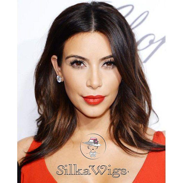 Kim Kardashian Bob Style Cut Ombre #1B/6  Brazilian Virgin Human Hair Lace Front…
