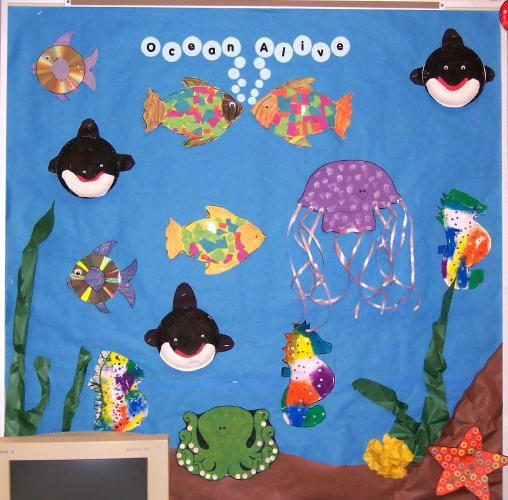 Ocean Unit Bulletin Boards School Ideas Sea Theme Classroom Ideas