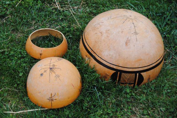 Water gourd drum - parts:gourds