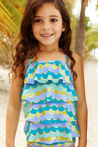 Lands' End Swim for Kids - super cute tankini! via #shopcoffeetable