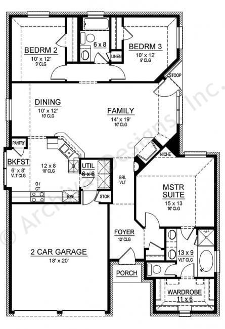 Cedar Crest House Plan First Floor Plan