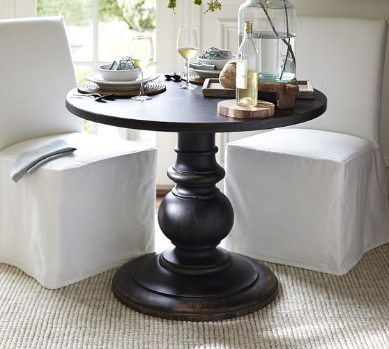 Dawson Large Pedestal Table  Possible Entry Table